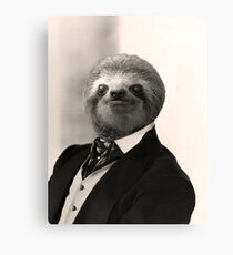 Gentleman Sloth #4 Canvas Print