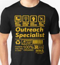 OUTREACH SPECIALIST SOLVE PROBLEMS DESIGN Unisex T-Shirt