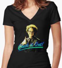 dr steve brule Women's Fitted V-Neck T-Shirt
