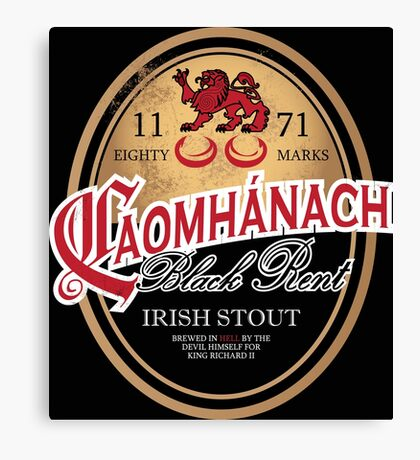Kavanagh Clan Vintage Irish Stout Canvas Print