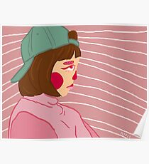 Low Key Sad Girl Poster