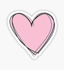 pink heart Sticker