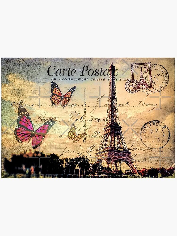 Vintage Paris-Postkarte von augustinet