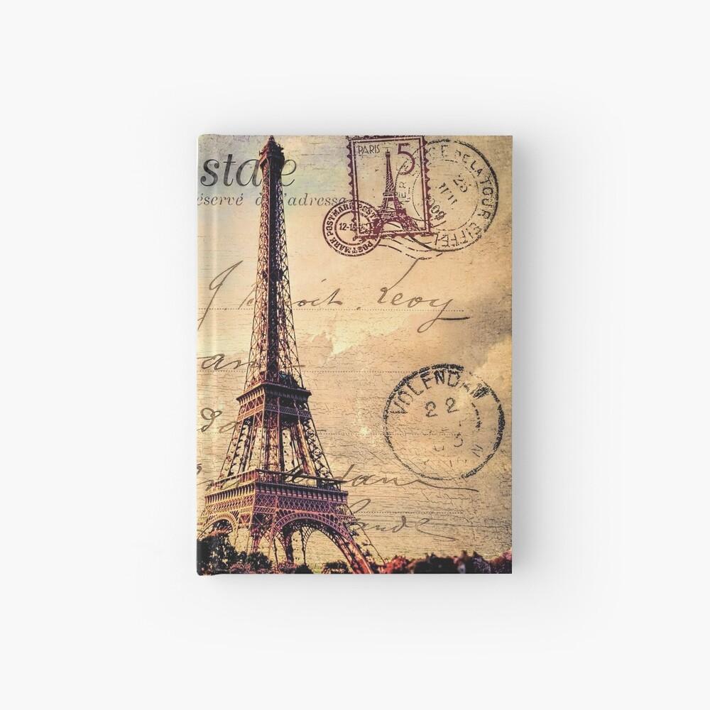 Vintage Paris-Postkarte Notizbuch