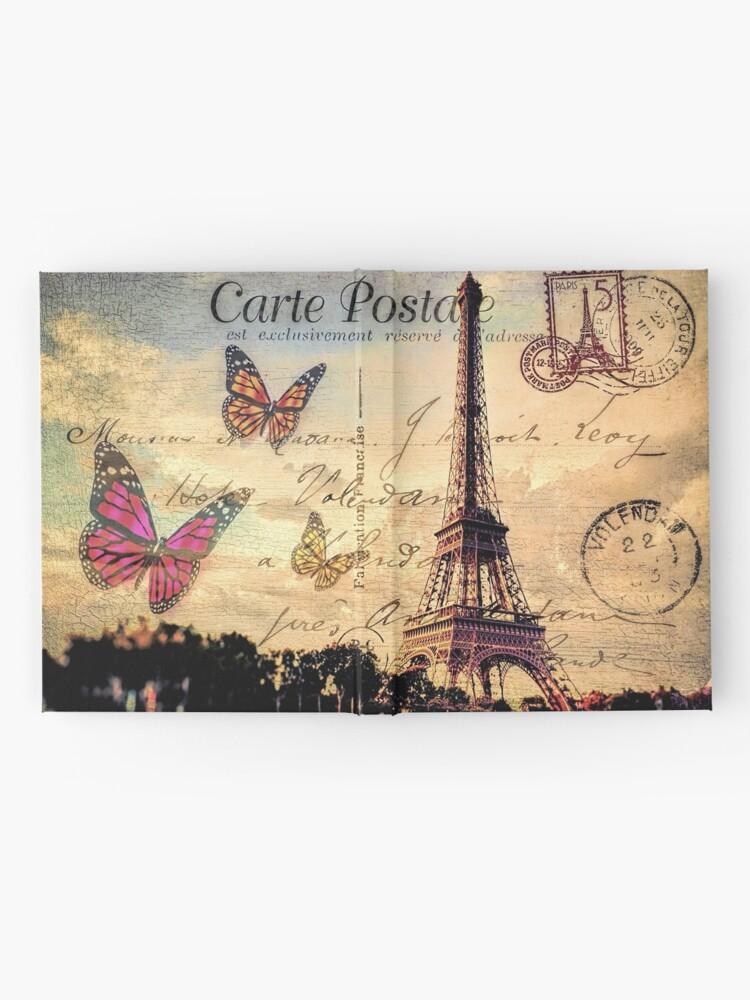 Alternative Ansicht von Vintage Paris-Postkarte Notizbuch