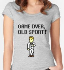 Game Over, Old Sport! Women's Fitted Scoop T-Shirt