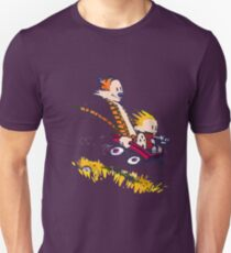calvin and hobbes race Unisex T-Shirt