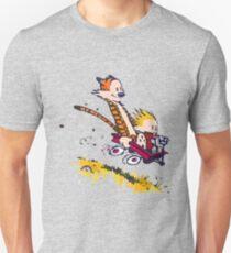 calvin and hobbes race Unisex T-Shirt