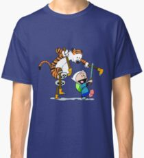 calvin and hobbes play Classic T-Shirt