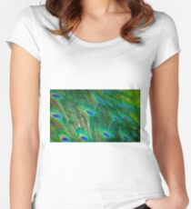 Peacock Mystery Women's Fitted Scoop T-Shirt