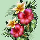 Summer Tropical Flowers by LoneAngel