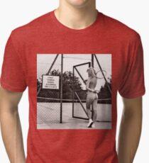 funny tennis court rules Tri-blend T-Shirt