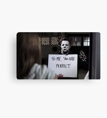 Michael Myers in Love Actually Canvas Print