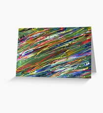 Organised Chaos abstract  Greeting Card