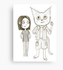 Cat Detective  Canvas Print