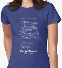 PeopleMover Patent People Mover Women's Fitted T-Shirt