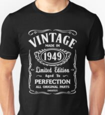 Made In 1949 Birthday Gift Idea Slim Fit T-Shirt