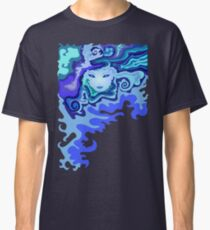 Illustration of a beautiful unusual abstract girl face Classic T-Shirt