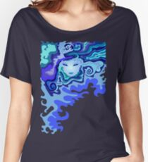 Illustration of a beautiful unusual abstract girl face Women's Relaxed Fit T-Shirt