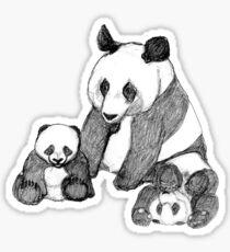 Famille de pandas Sticker