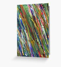 Organised Chaos abstract (portrait)  Greeting Card
