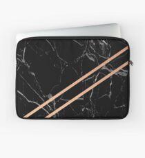 Black Marble & Rose Gold  Laptop Sleeve