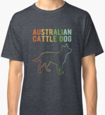 Vintage Style Australian Cattle Dog Classic Retro Classic T-Shirt
