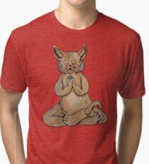 Gato Yogui Camiseta de tejido mixto