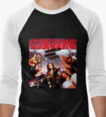 Vintage Scorpions World Wide Live Men's Baseball ¾ T-Shirt