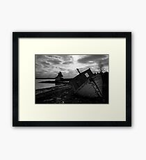 Brooding Wreck Framed Print