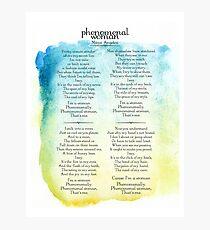 Phenomenal Woman - Maya Angelou Photographic Print
