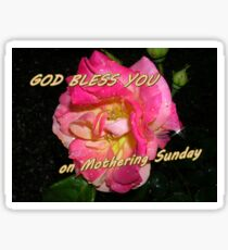 Mothering Sunday Greetings Card Sticker