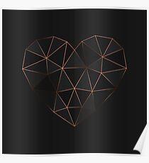 Kintsugi - Gold Rose Poster