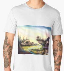 Sleeping Dragon - Fantasy Landscape Men's Premium T-Shirt