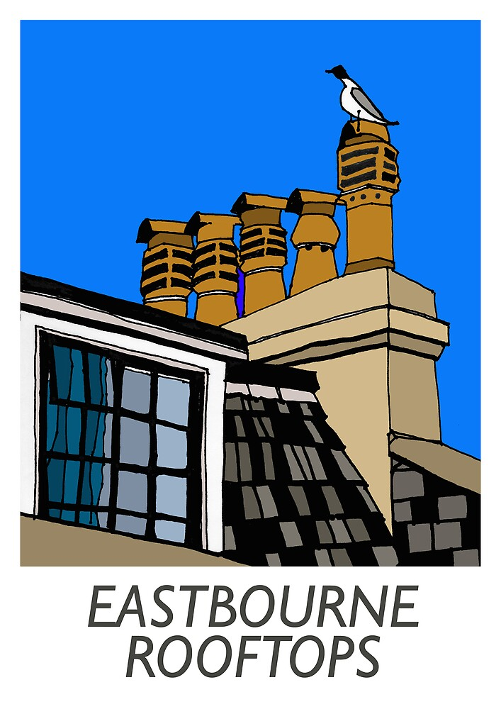 Eastbourne Rooftops by flyingscot