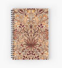 William Morris Hyacinth, Brown and Beige Spiral Notebook