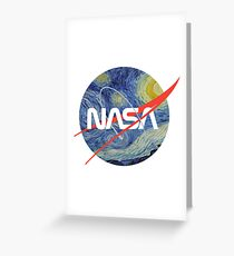 NASA Starry Worm Greeting Card