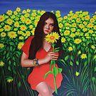 Ekaterina and Sunflowers by Simon Mark Knott * Simbird *