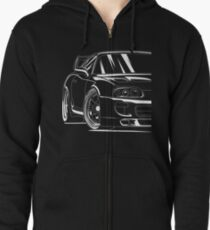 Best Toyota Supra Shirt Design 2JZ Zipped Hoodie