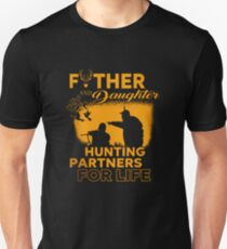 aa5ec6fd04602 Father And Daughter Hunting Partners Slim Fit T-Shirt