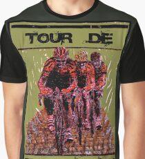 TOUR DE FLANDEREN: Vintage Bike Racing Advertising Print Graphic T-Shirt