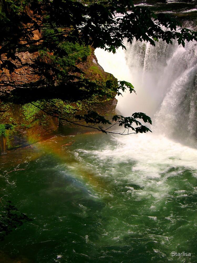 Rainbow at Lower Falls by Starlisa