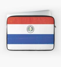 Paraguay Distressed Flag Soccer Theme Laptop Sleeve