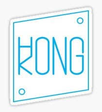 Hong Kong - Slanted Blue Sticker