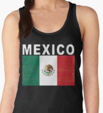 Mexico Distressed Flag Retro Soccer Tee Women's Tank Top