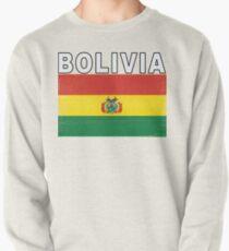 Bolivia Distressed Flag Retro Soccer Design Pullover