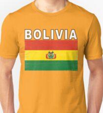 Bolivia Distressed Flag Retro Soccer Design Unisex T-Shirt