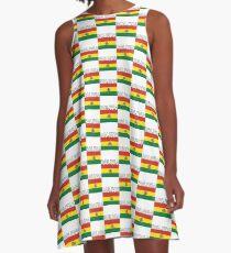 Bolivia Distressed Flag Retro Soccer Design A-Line Dress