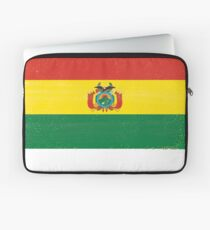 Bolivia Distressed Flag Retro Soccer Design Laptop Sleeve