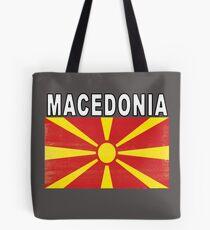 Macedonian Distressed Flag Soccer Team Tote Bag